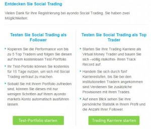ayondo social trading 2 Möglichkeiten